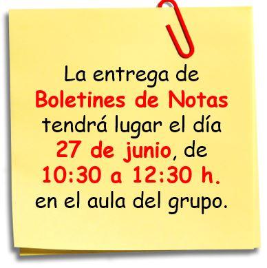 Boletines Notas