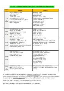 CALENDARIO DE RECUPERACIONES Y EVALUACIONES SEPTIEMBRE 2017 Cartel_001